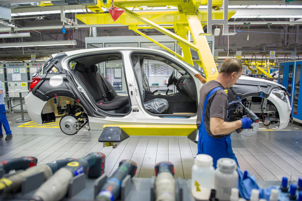 Assembly Line at the automotive industry
