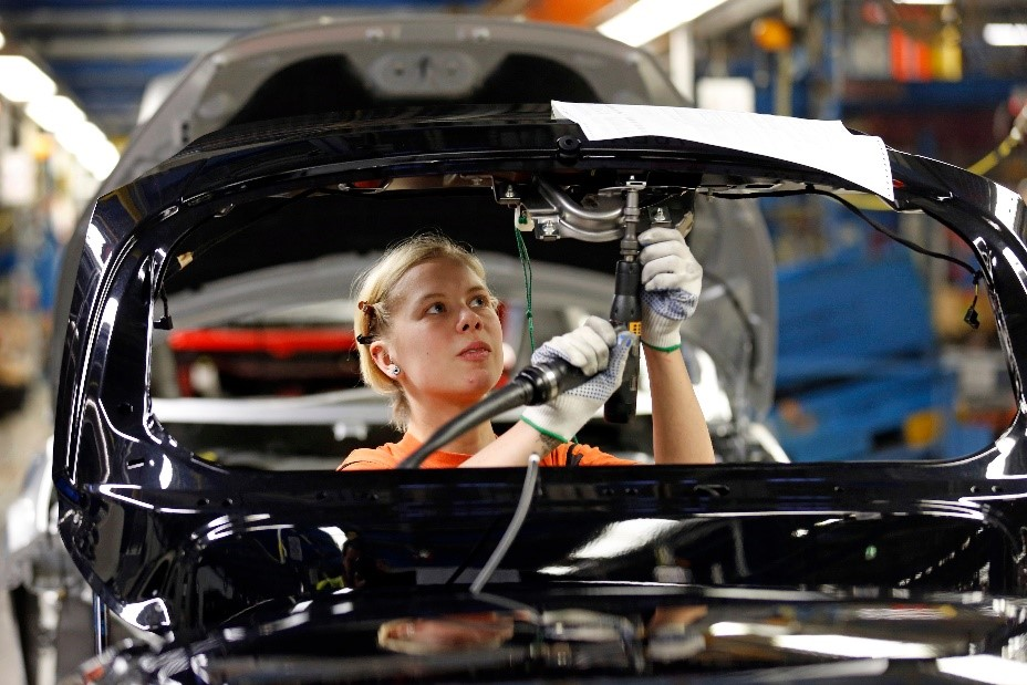 Modern Assembly Line in the Automotive Industry
